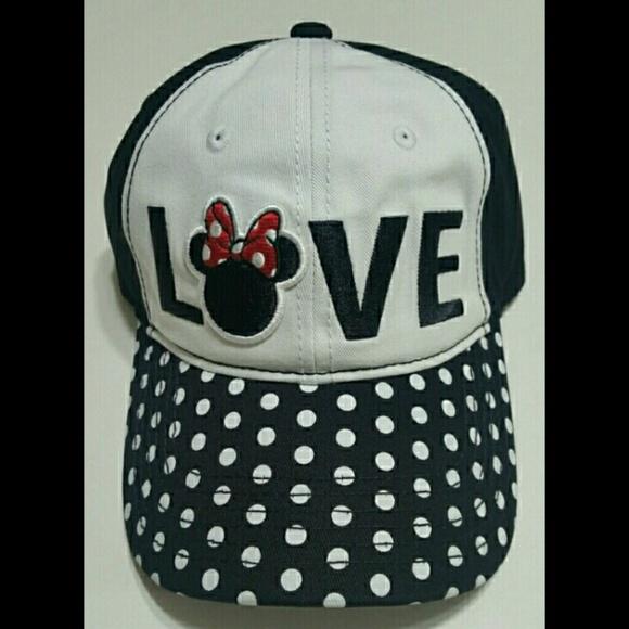 5bc4cf09ba7 Minnie Mouse LOVE Polka Dot Bill Cap Hat